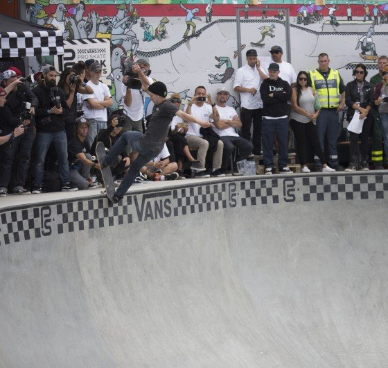 Ben Hatchell during the 2016 Vans Skate Park Series Championships in Malmo