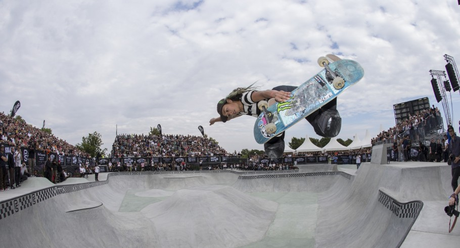 Lizzie Armanto during the 2016 Vans Skate Park Series Championships in Malmo