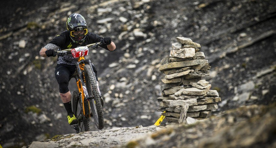 Jared Greeves during the EWS round 7 event in Valberg, France