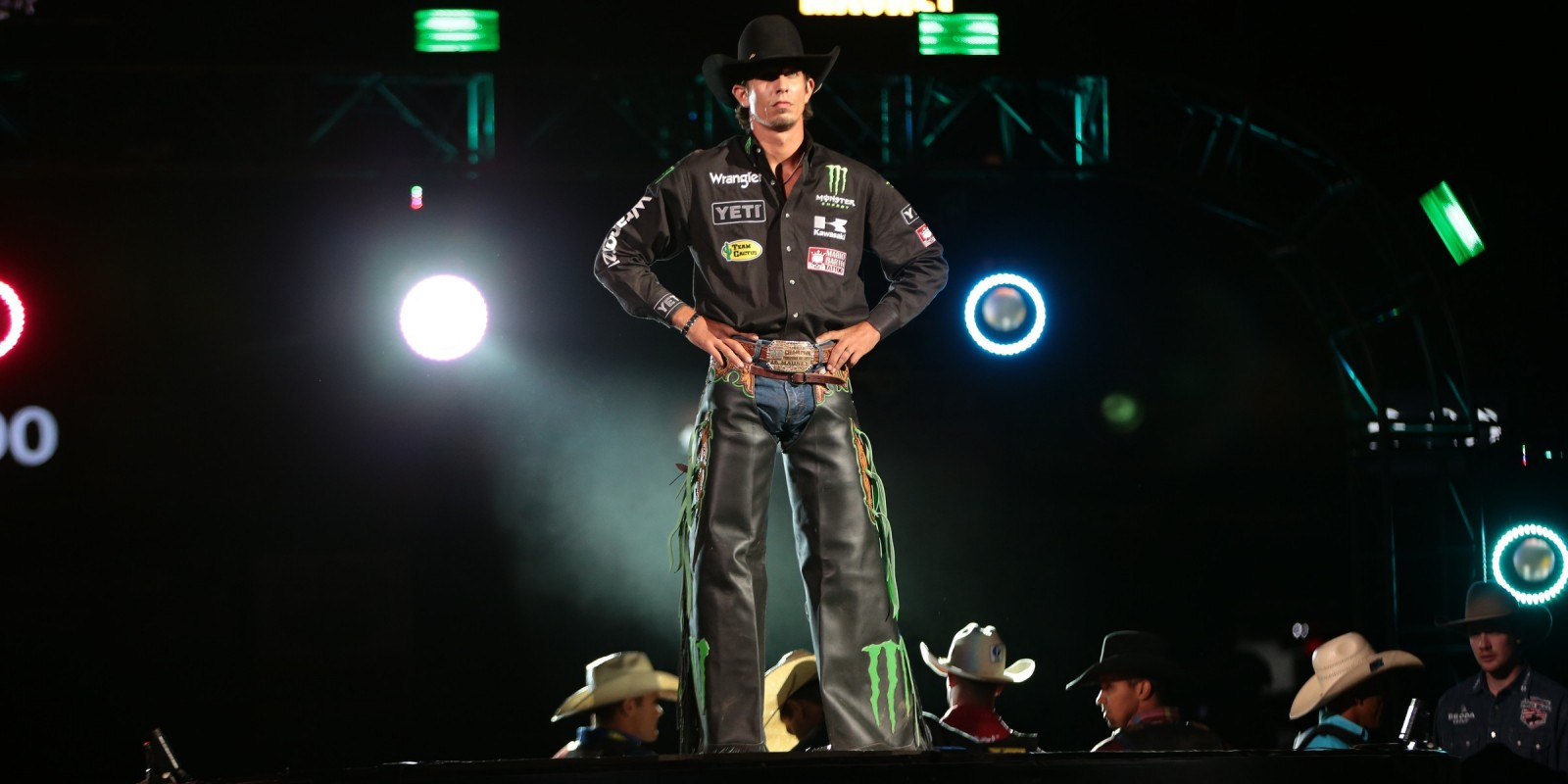 JB Mauney at the opening of the first round of the Charlotte Built Ford Tough Series PBR in Charlotte, NC