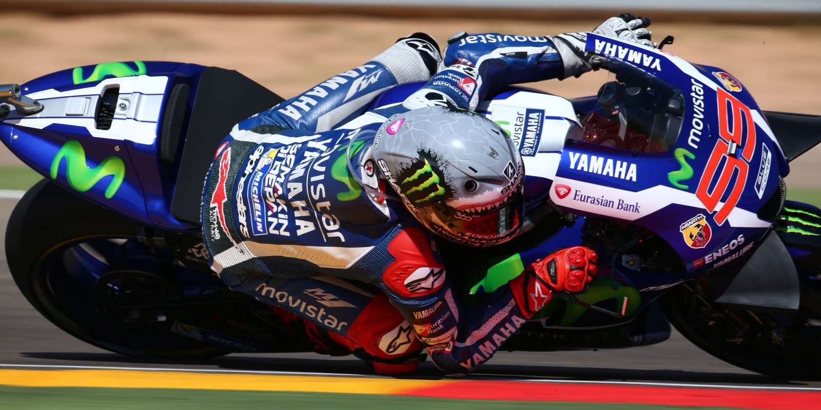 Jorge Lorenzo during the 2016 MotoGP season in Aragon, Spain