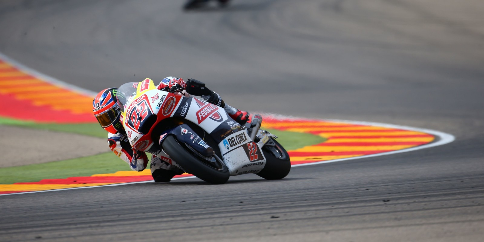 Monster athletes compete during the 2016 MotoGP season, race 2 in Aragon Spain