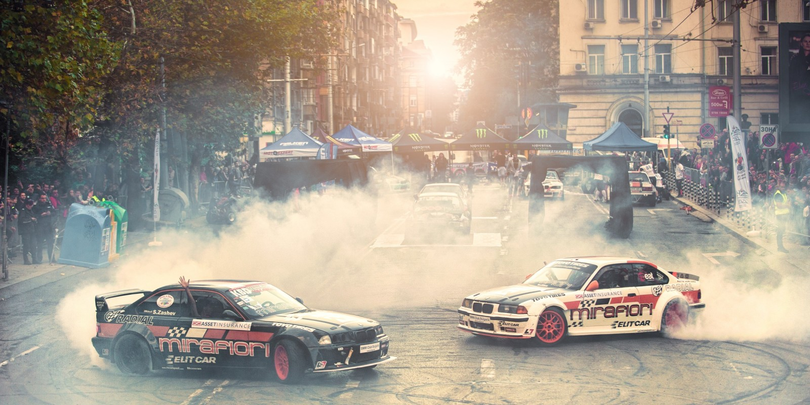 The biggest extreme sport festival in Bulgaria in which Alex Yazov from ME took part in the drift demos.