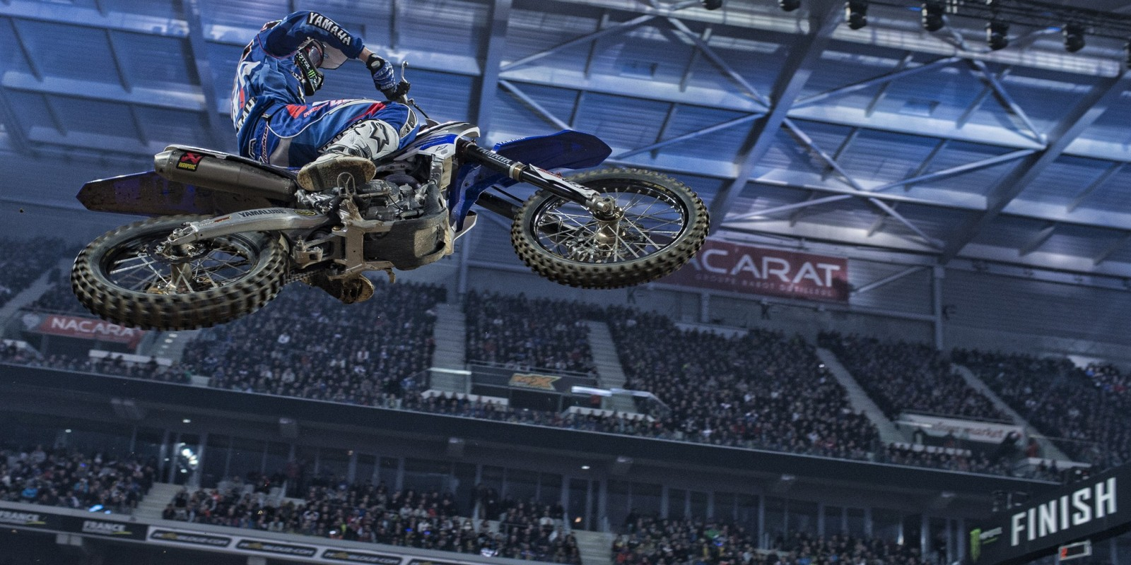 Romain Febvre at the 2015 Supercross in Stade Pierre Mauroy