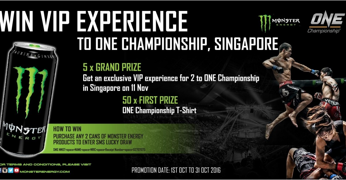 Enter to Win tickets to ONE Championship Singapore