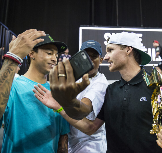 Monster athletes compete in the 2016 Street League Super Crown in Los Angeles, CA