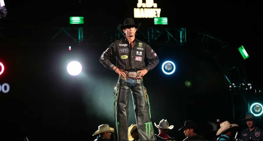 JB Mauney in the opening during the first round of the Charlotte Built Ford Tough Series PBR
