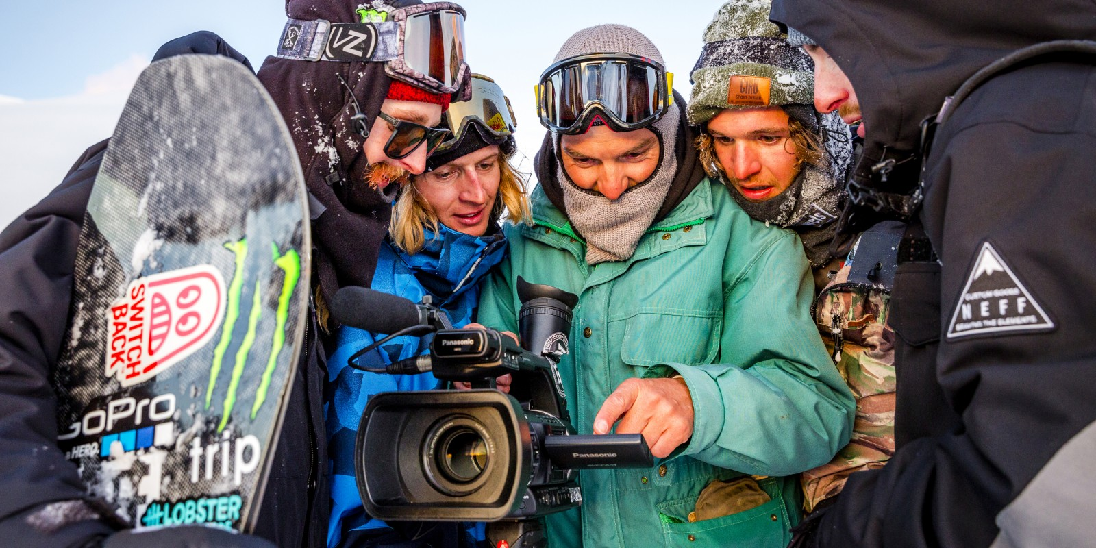 Gruber/Morgan/Halldor in Searching For snowboard movie