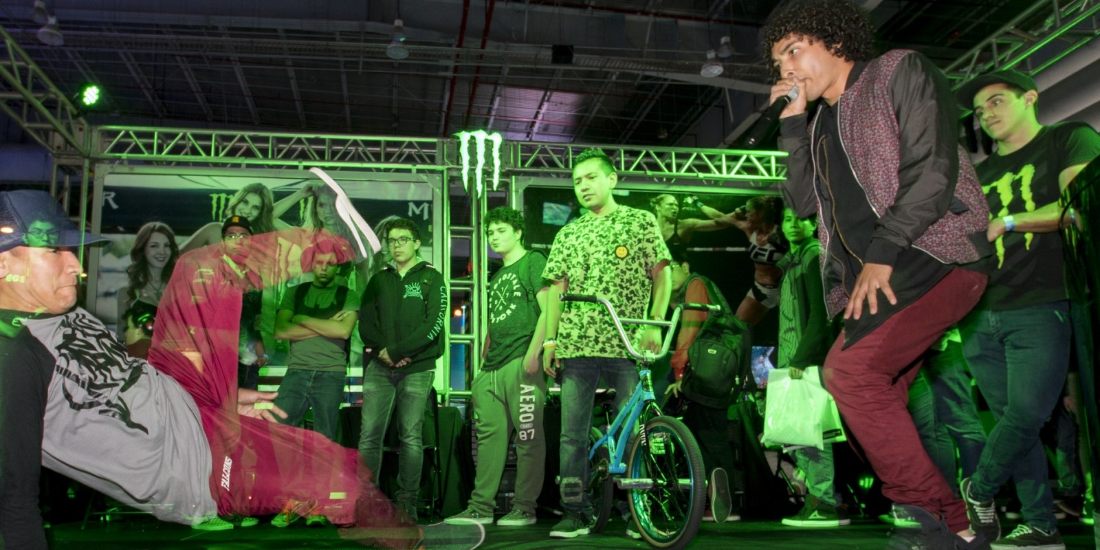 Monster Energy attending Electronic Game Show with tournaments inside the booth- Standard Unlimited Release- Isaac Garcia Locatzin, Donovan Borja