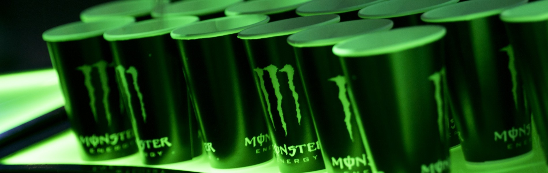 Monster Energy attending Electronic Game Show with tournaments inside the booth