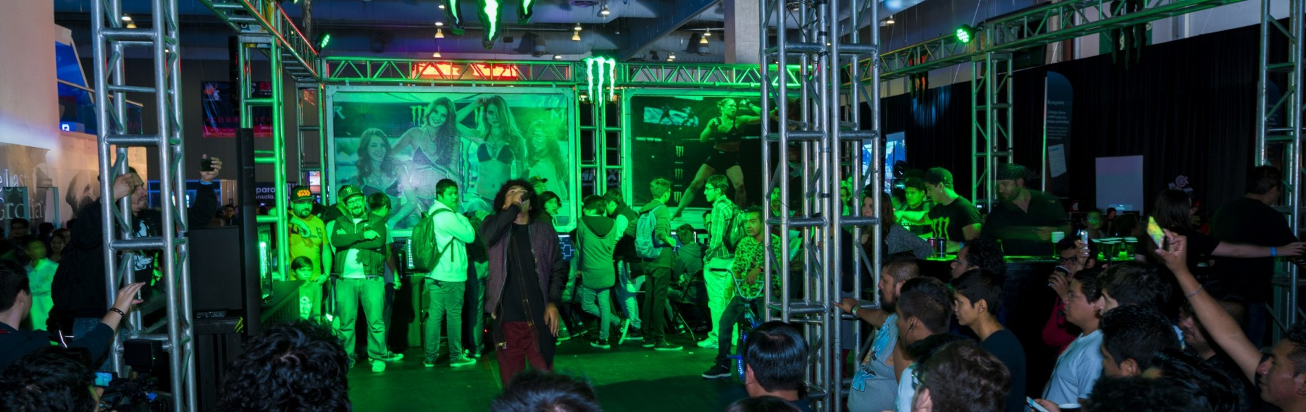 Monster Energy attending Electronic Game Show with tournaments inside the booth- Standard Unlimited Release-Felix Yosef Torres