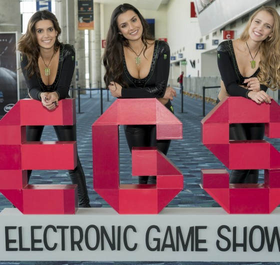 Monster Girls attending Electronic Game Show at Mexico City