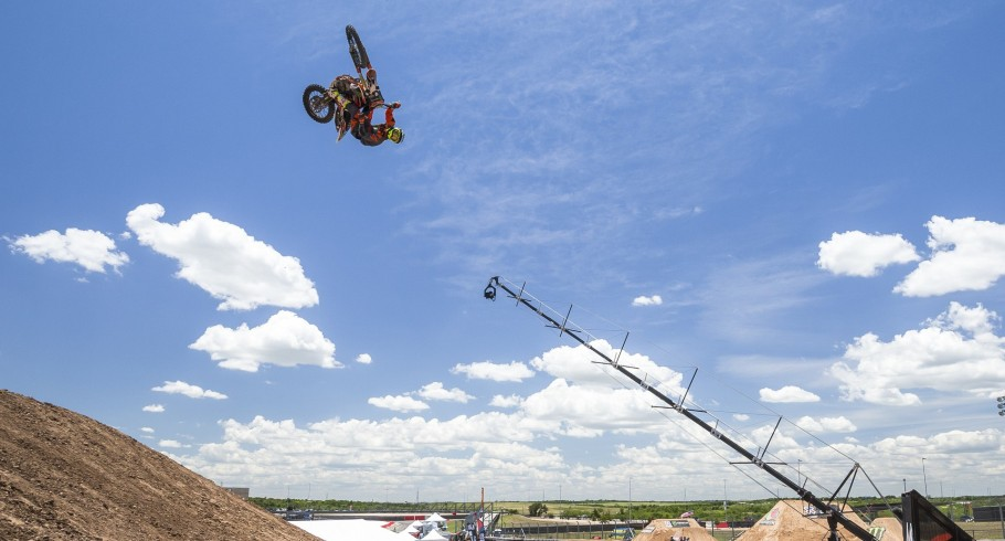 """Blake """"Bilko"""" Williams competes in the Freestyle best trick competition in the 2016 Summer X-Games in Austin, Texas."""