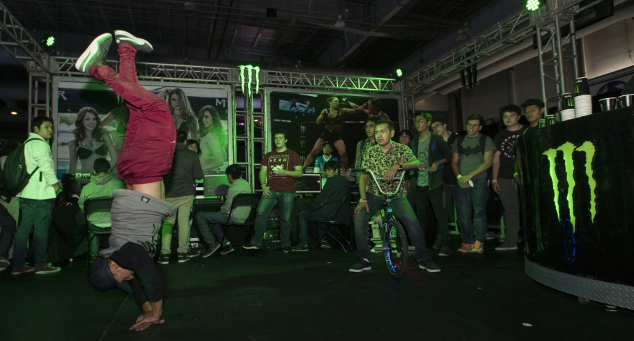 Monster Energy attending Electronic Game Show with tournaments inside the booth/- Standard Unlimited Release- Isaac Garcia Locatzin, Donovan Borja