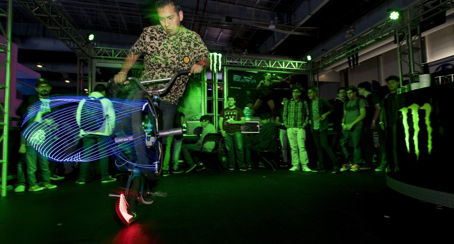 Monster Energy attending Electronic Game Show with tournaments inside the booth.- Standard Unlimited Release Donovan Borja