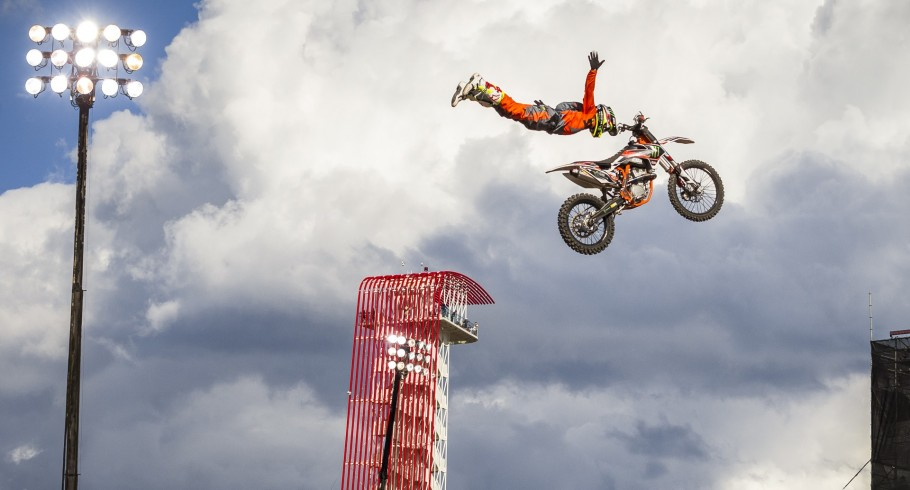 """Blake """"Bilko"""" Williams competes in the Freestyle competition in the 2016 Summer X-Games in Austin, Texas."""