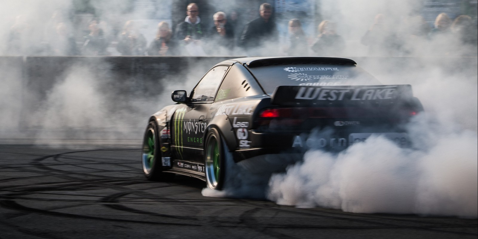 Drift Show before the Supermotocross Race at the Veltins Arena, Germany.