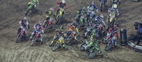 Monster energy at the 2015 Supercross in Stade Pierre Mauroy