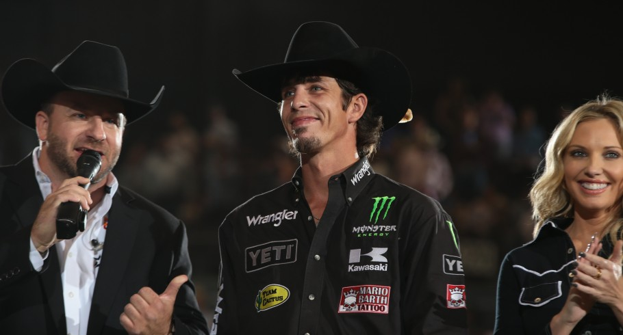 JB Mauney in the opening during the second round of the Nampa Built Ford Tough Series PBR