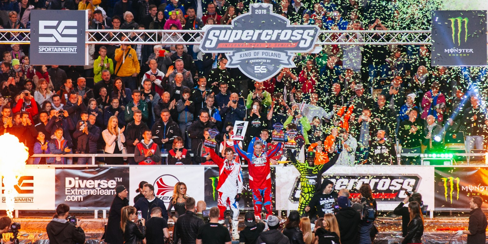 Supercross King of Poland 2016 - SX1 category podium