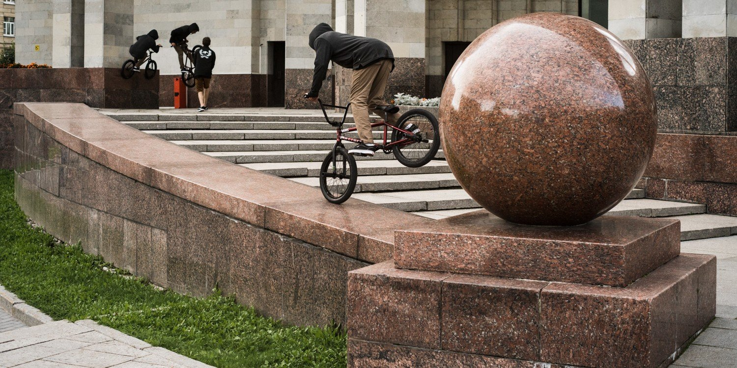 BMX project Lost in, St. Petersburg stop