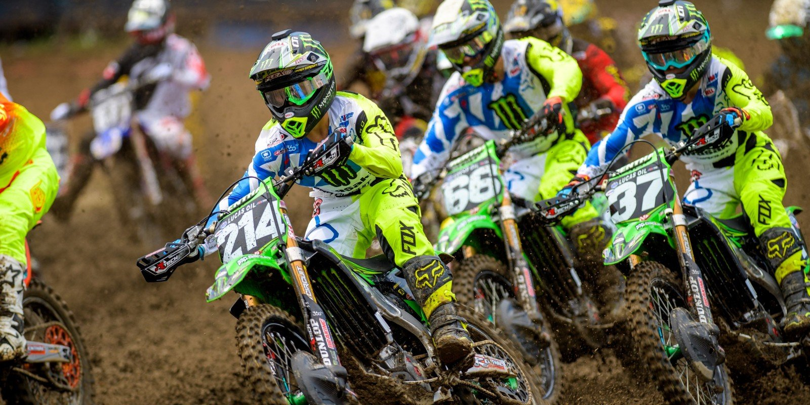 Starting LIne during the 2016 Pro MX Nationals in Iron Man Racewary Crawfordsville, Indiana