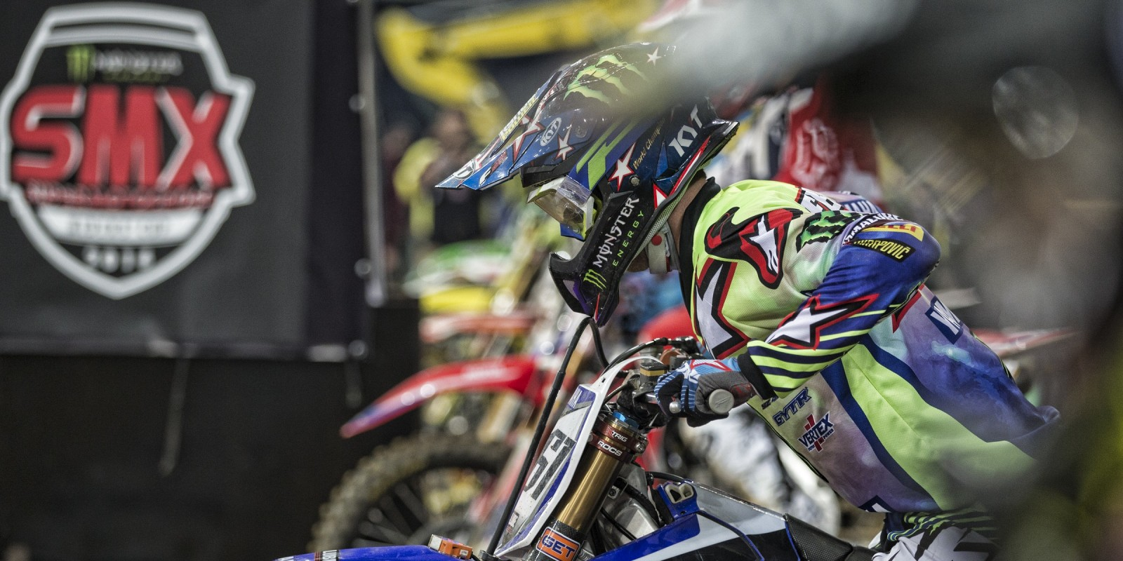 Supermotocross at the Veltins Arena in Germany.