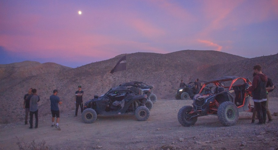 The best BMX riders in the world don't just cruise into Vegas, they mob in on the brand new Can-Am Maverick X3's. BMX riders plowed through 100 miles of desert from Baker, California, to Las Vegas, Nevada, to shred the best parks that no one ever sees fro