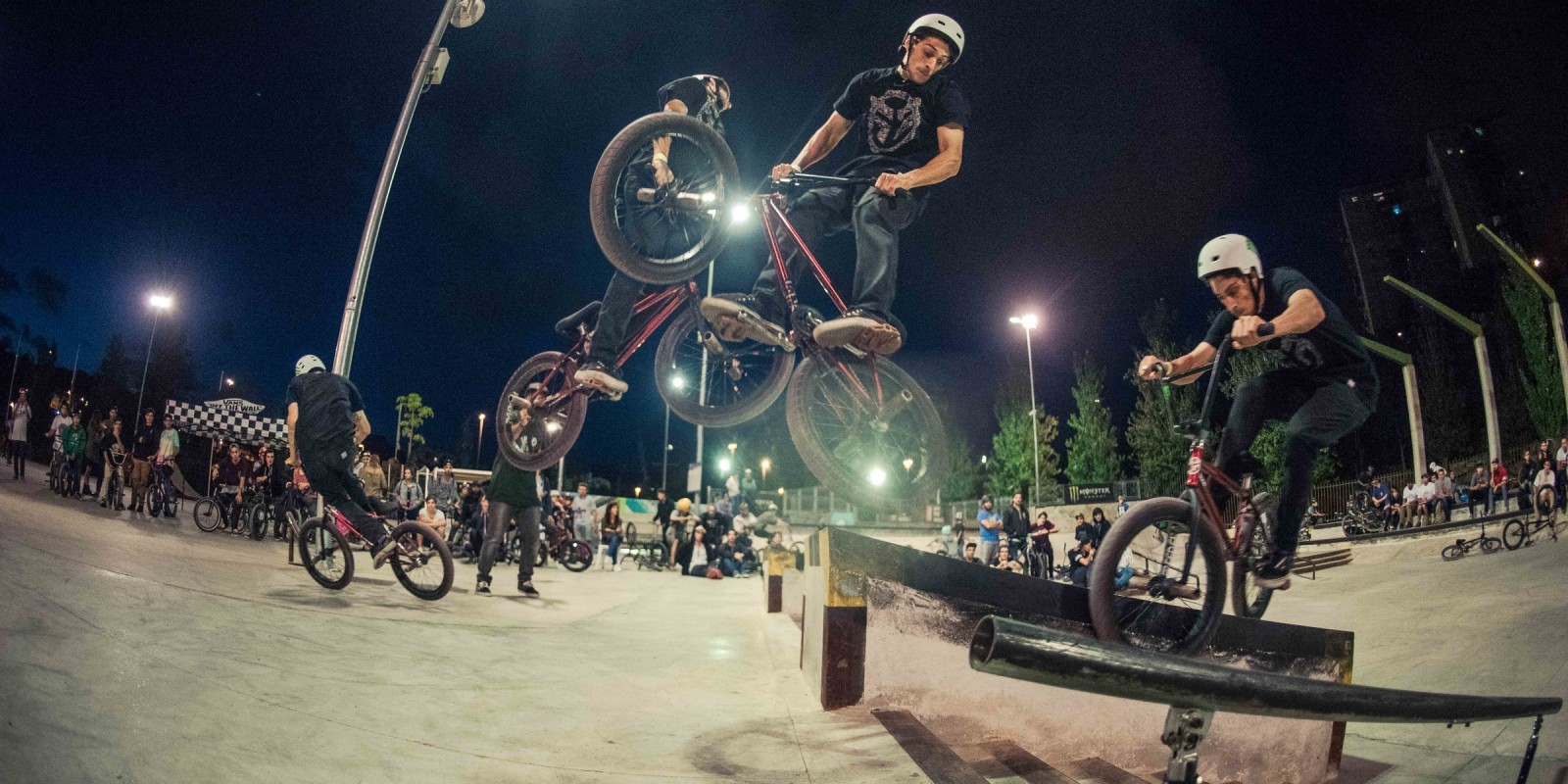 BMX competition at Malaga, Spain.