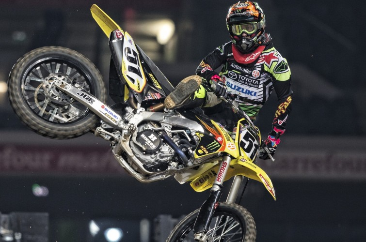 Justin Barcia at the 2016 Paris Lille Supercross
