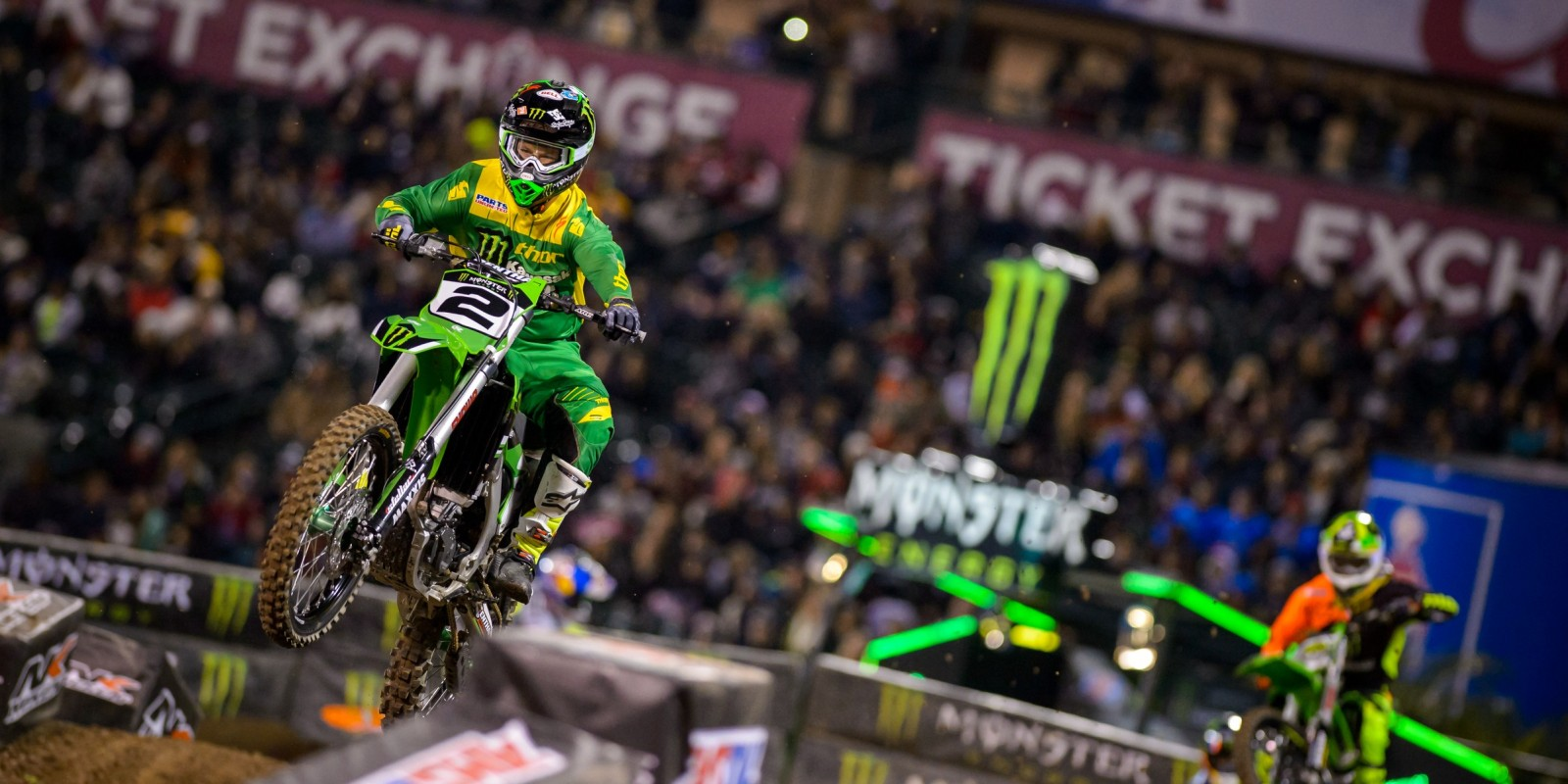 Jeremy McGrath during the Anaheim stop of the 2016 SX season.