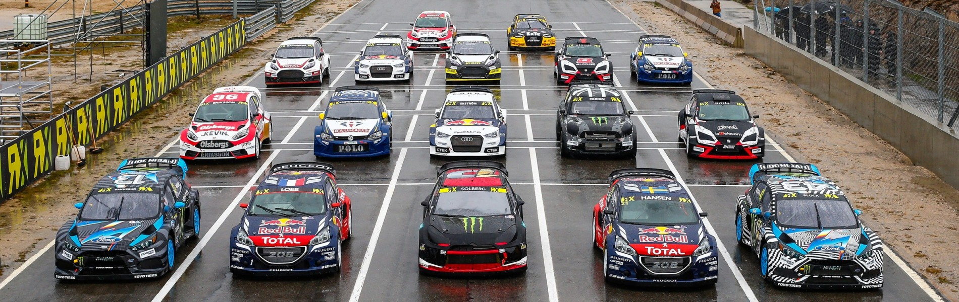 Friday images from round one of the FIA World Rallycross Championship, Round 1