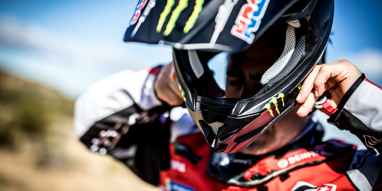 Paolo Goncalves riding for Monster Energy Honda Team