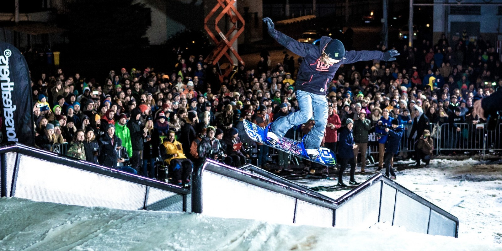 Eiki Helgason at the 2015 Horsefeathers City Jib event in Pilsen, Czech Republic
