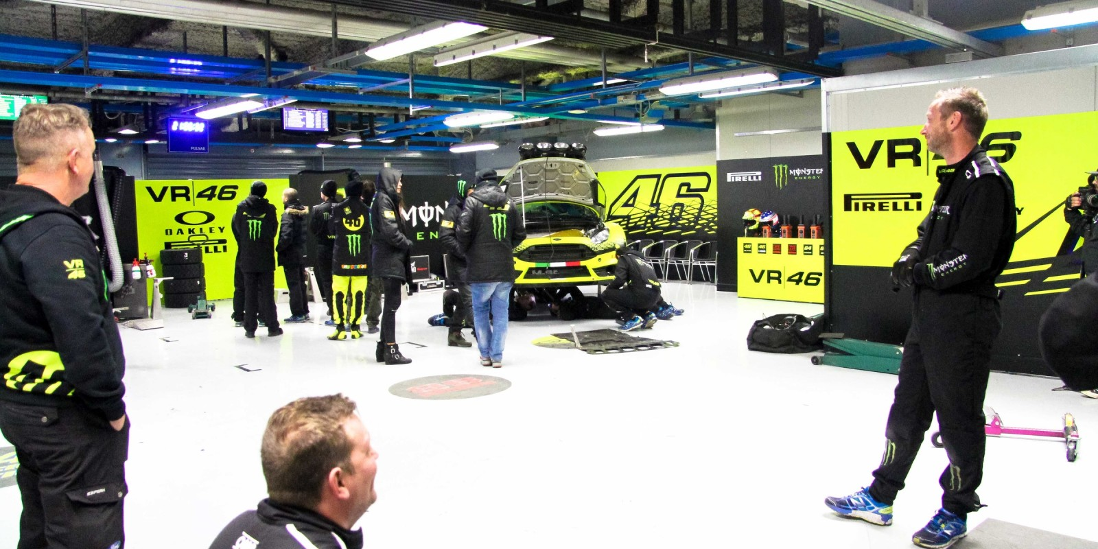 VR46 team waiting for the cars to come back