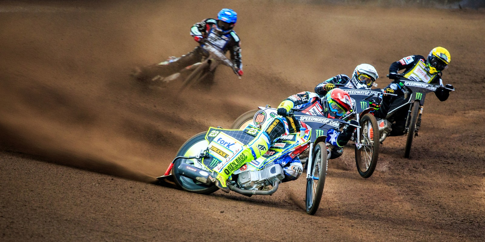 Images of Chris Holder on his way to 10pts in the 2015 Swedish SGP