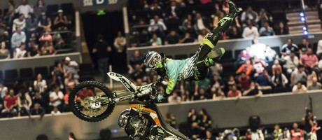 XPilots by Monster Energy, FMX competition celebrated in Mexico city with the Monster riders, Genki Watanabe, Matej Cesak and Johan Nungaray.