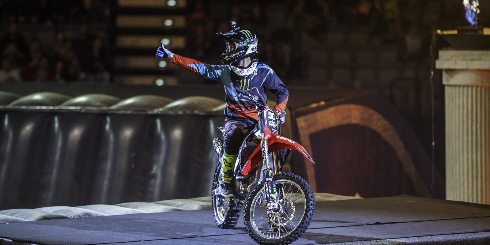 Photos of Nate Adams at the FMX Gladiator Games 2016 event in Prague, Czech Republic