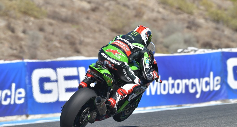Jonathan Rea at the 2016 World Superbike Gaerne Spanish Round
