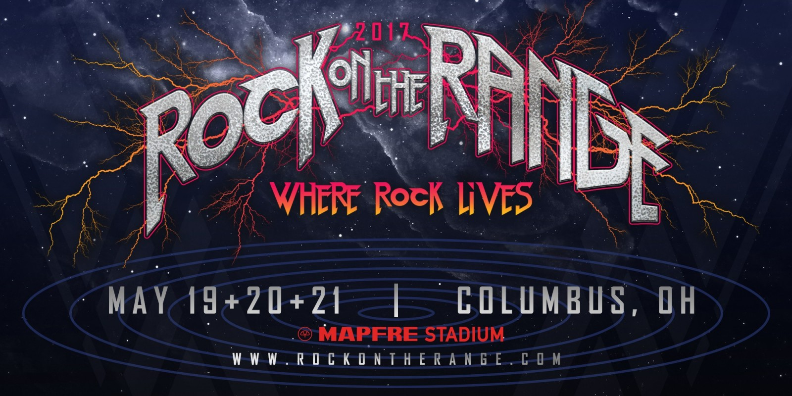 2017 Rock On The Range hero image showing date and location.