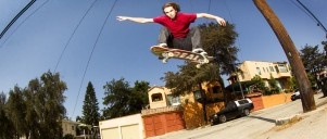 Kyle Walker skateboarding in Long Beach, CA.