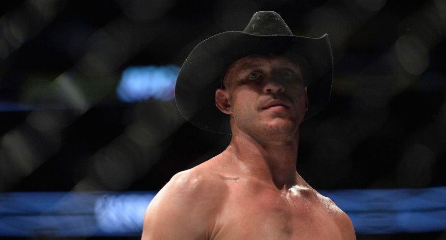 Donald Cerrone celebrates his knockout victory over Matt Brown in their welterweight bout during the UFC 206 event inside the Air Canada Centre on December 10, 2016 in Toronto, Ontario, Canada