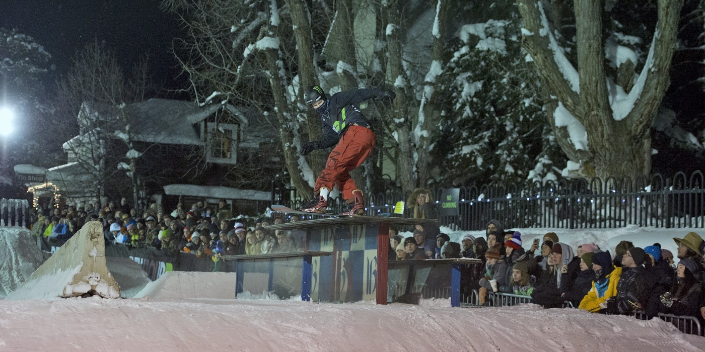 Darcy Sharpe - snowboarder won the Street Style on 12/09/16 with a 4 peat!