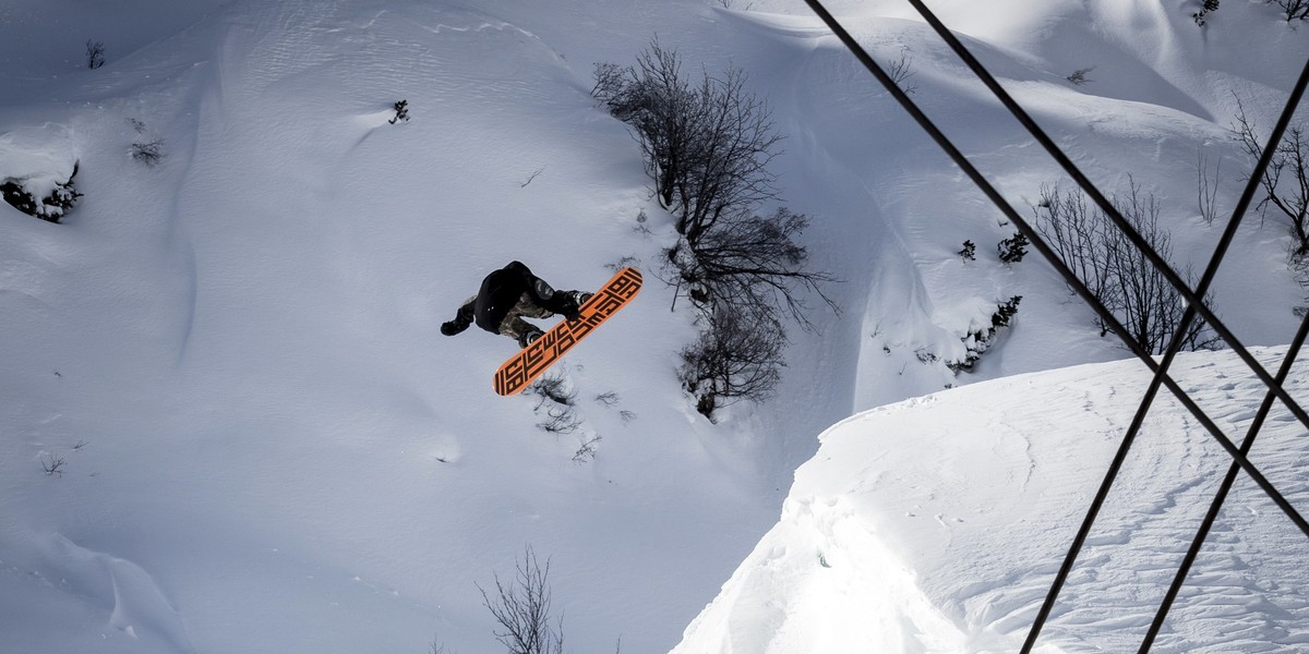 Morgan in Searching For snowboard movie