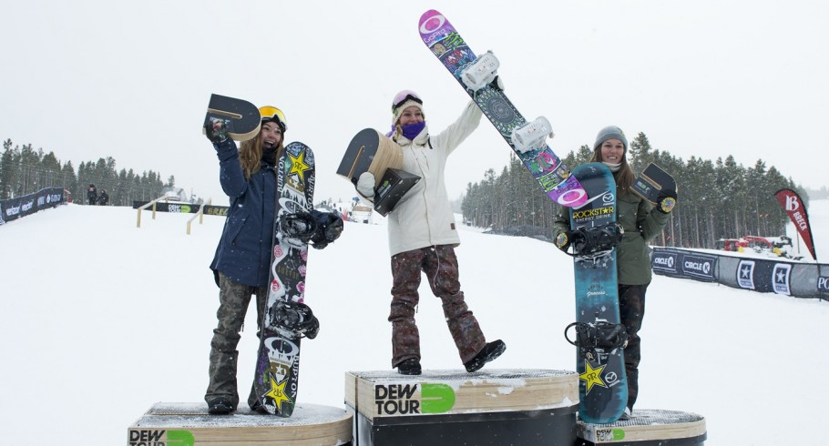 Jamie Won the 2016 Dew Tour Slopestyle Title (overall) in Breckenrdige, Colorado