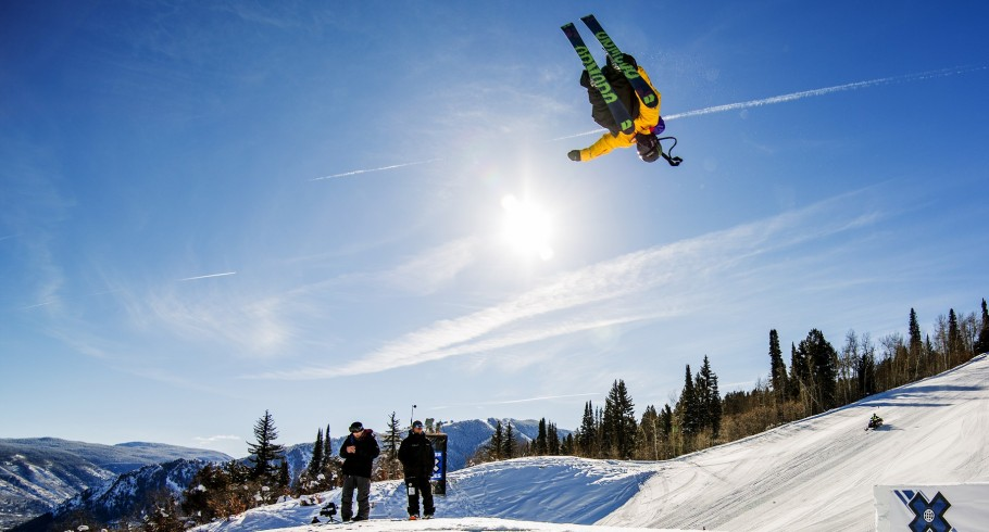 Henrik Harlaut competes in the 2016 Winter X Games.
