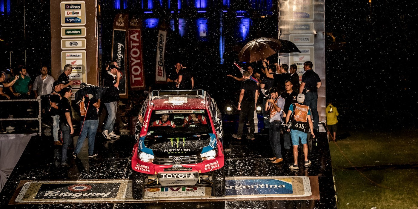 Images of Nani Roma on Day one of the 2017 Rally Dakar - at Asuncion in Paraguay