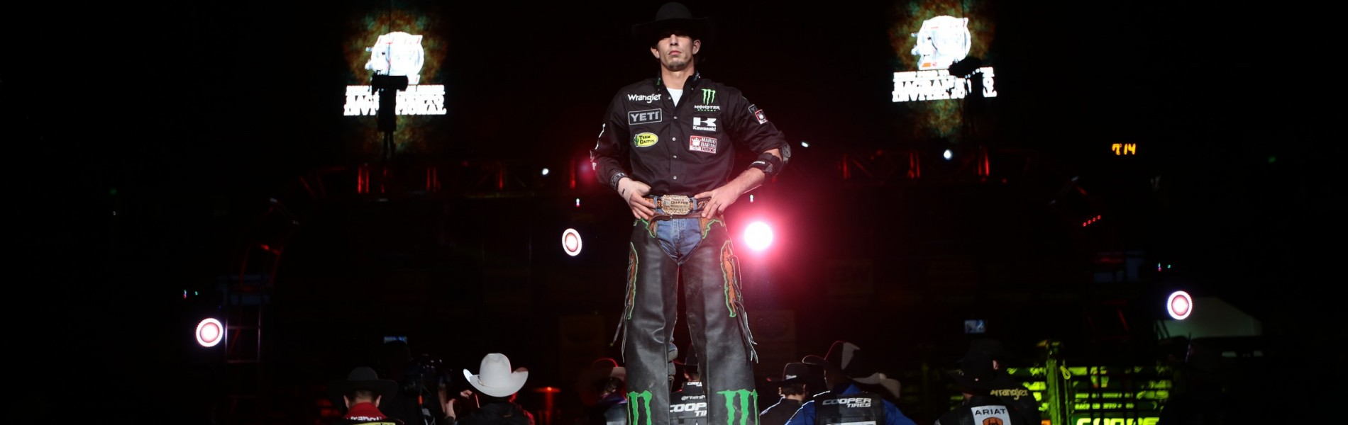 JB Mauney in the opening during the second round of the Sacramento Built Ford Tough series PBR