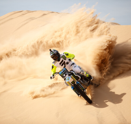 Monster athletes ride for Dirt Shark's Doonies III in Glamis, CA