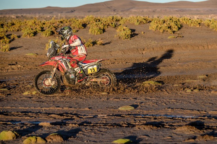 Michael Metge at the 2017 Dakar Rally